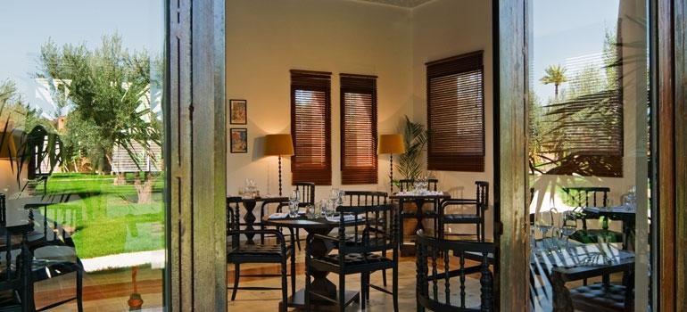 Restaurant luxury hotel marrakech