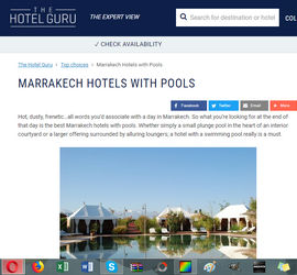 MARRAKECH HOTELS WITH POOLS